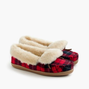 red and black mocs