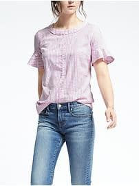 Flutter Sleeve Top - Dusty pink