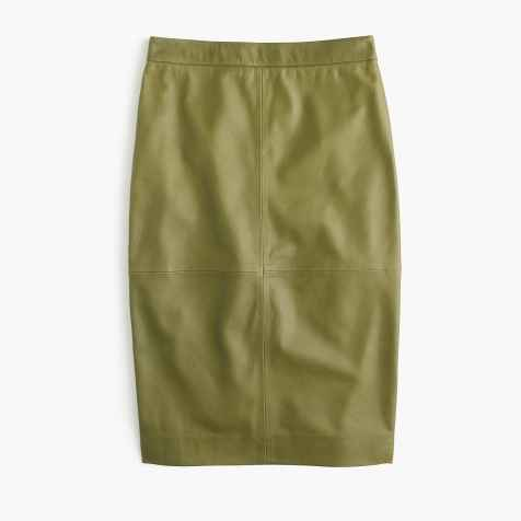 Collection leather skirt