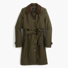 Tall field trench coat