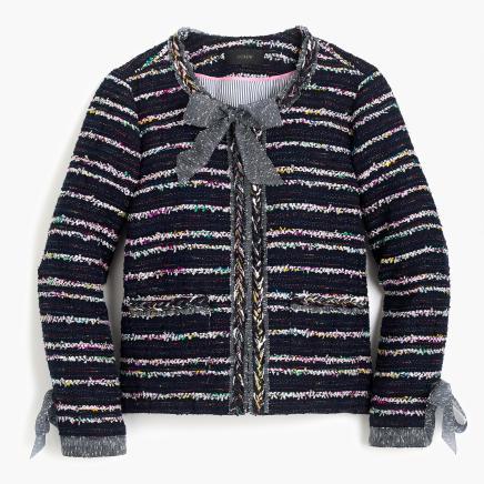 Tweed Lady jacket with ties