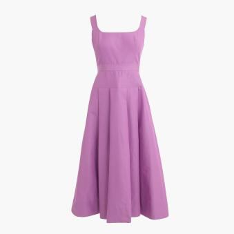 tall pleasted a-line dress in faille