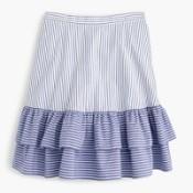 tall striped ruffle skirt