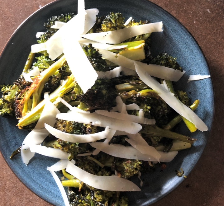 Oven Roasted Broccolini with Lemon and Pecorino // @2souschefs